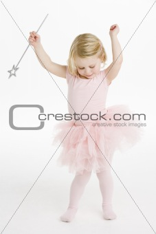 Little Ballerina Holding Wand