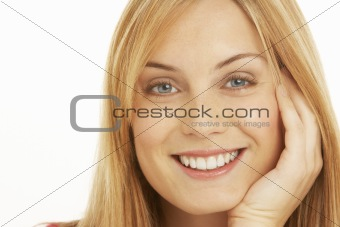 Portrait Of Pretty Smiling Woman