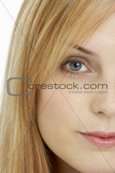 Close Up View Of Young Woman