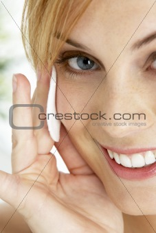 Portrait Of Blonde Smiling Woman