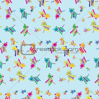 Seamless Lion Background Pattern