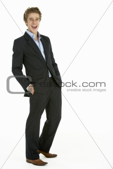 Portrait Of Young Businessman Laughing