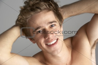Topless Portrait Of Young Man