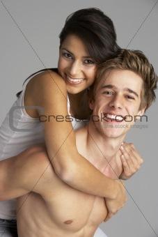 Portrait Of Happy Sexy Couple