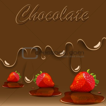 chocolate, strawberry and caramel