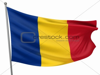 Romania National Flag  - All Countries Collection - Isolated Image