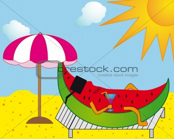 Melon and sun