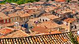 The rooftops of medieval villages are unplanned