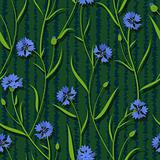 seamless cornflower green blue pattern background vector