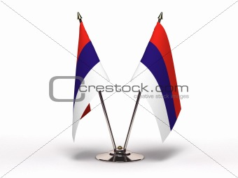 Miniature Flag of Serbia (Isolated)