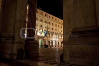 Rome. Chigi palace  government's seat