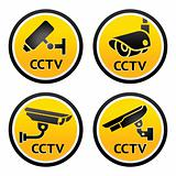 Security camera pictogram, set CCTV sign