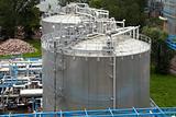 Industrial gas tank