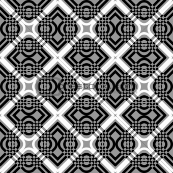 Seamless geometric checked pattern.