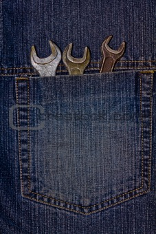 wrenches in pocket