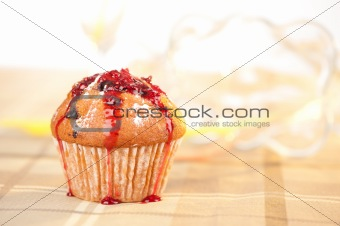 Homemade raspberry Muffin