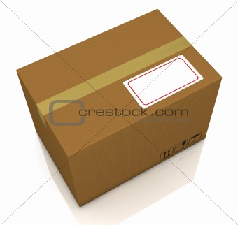 carton box with label