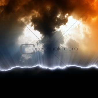 Dramatic background with black copyspace