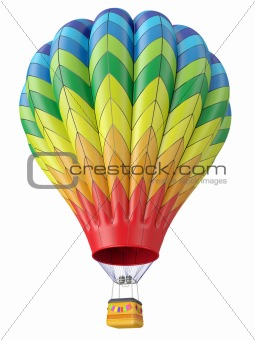 Multi-colored balloon