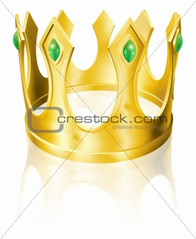 Gold crown illustration