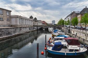 Frederiksholms Canal in Copenhagen in Denmark