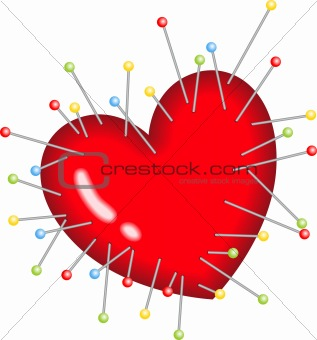 Voodoo Heart Pins Stick