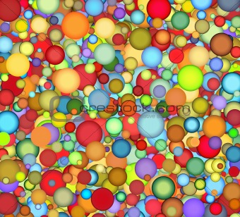 floating bubble backdrop in multiple color