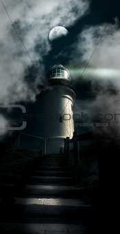 The Dark Atmospheric Lighthouse