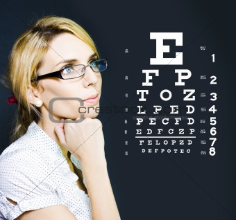Optician Or Optometrist Wearing Eye Wear Glasses