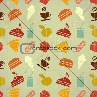 food seamless color background