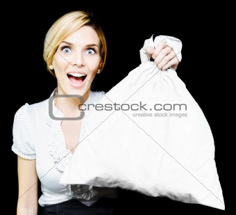 Business Woman Bagging A Bargain With Copyspace