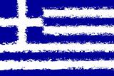 Greece flag grunge