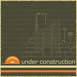 Under Construction in black and orange color