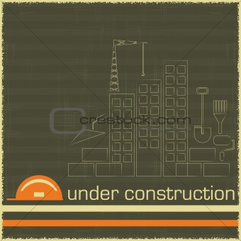 Under Construction in black and orange color