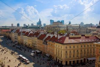 old downtown (Krakowskie Przedmiescie) of Warsaw, Poland