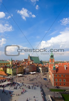 Old town  square from above, Warsaw, Poland