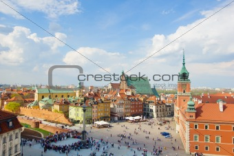Old town square (plac Zamkowy), Warsaw, Poland