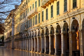 Liston is the most famous place in the city of Corfu, Greece