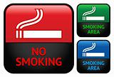 Labels set - No smoking area stickers