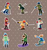 ski player stickers