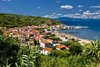 Dalmatian island of Susak village and harbor