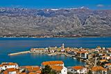 Town of Vinjerac and Velebit mountain