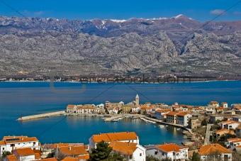 Town of Vinjerac and Velebit mountain