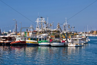 Fishing boats fleet in Harbor