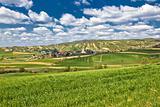Beautiful green springtime landscape in Croatian village