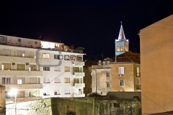 Zadar urban zone night scene