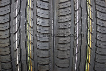 Pair of new summer car tires