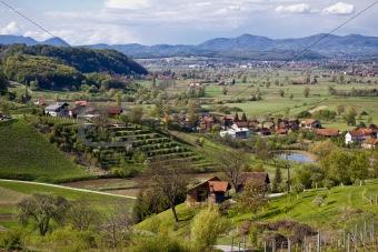 Green landscape of Zagorje region