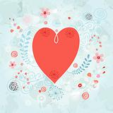 heart on a decorative background