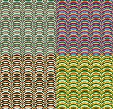 Seamless Pattern Set with Colorful Geometric Waves. Vector Illustration